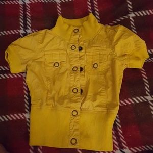 Rue 21 size small jacket yellow button snap